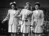 Andrew Sisters singing on the Stage in Group Picture in Classic