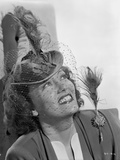 Gloria Swanson smiling and Looking up in Classic Portrait