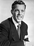 Dick Haymes Posed in Black Suit With White Background