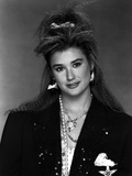Demi Moore in Classic Portrait wearing Black Coat
