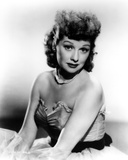 Lucille Ball Posed in Strapless Dress Classic Portrait