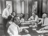 Twelve Angry Men in Meeting Scene in Black and White