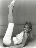 Heather Locklear Lying on a Floor win Printed Top