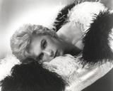 Stella Stevens Posed in Furry Dress Classic Portrait