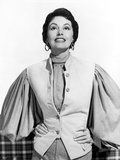 Cyd Charisse wearing White Vest with Broad Sleeves