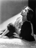Ida Lupino Lying on a Soft Cloth with Furry Shawl