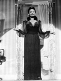 Lena Horne in Black Gown in Black and White Portrait
