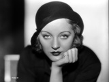 Talullah Bankhead on a Hat with Face Leaning on Hand
