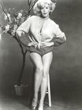 Stella Stevens Posed in Sweat Shirt Classic Portrait