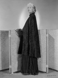 Carole Lombard wearing a Long Gown and Leaning Pose