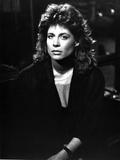 Linda Hamilton Portrait in Classic wearing Black Coat
