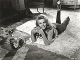 Ann Margret Lying on the Carpet in Classic Portrait