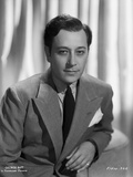 George Raft wearing Coat with Necktie Black and White