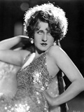 Norma Shearer Reclining in Shimmering Tank Top Dress