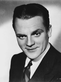 James Cagney Portrait in Black Velvet Suit and Tie
