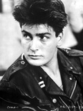 Charlie Sheen in Black With Black and White Background