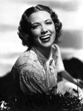 Eleanor Powell on an Embroidered Dress and laughing
