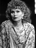 Mia Farrow Portrait wearing Floral Dress with Necklace
