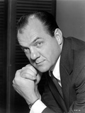 Karl Malden Posed in Black Suit With Black Background