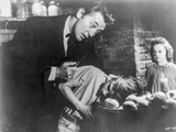 Night Of The Hunter Couple Scene in Black and White