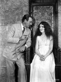 Mary Astor on Long Dress Talking to a Man Portrait