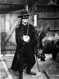 Guy Williams Posed wearing Zorro Outfit With Sword