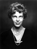 Amelia Earhart on Top Dark with Necklace Portrait