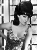 Connie Francis Posed in Glossy Tank top with Hand on Hips