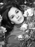 Barbara Parkins Classic Close Up Portrait with Flowers