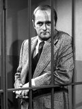 Bob Newhart Posed in Tuxedo With Black and White
