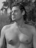 Johnny Weissmuller Looking Away in a Classic Movie Scene