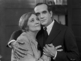 Al Jolson hugging an Old Woman in a Classic Movie Scene