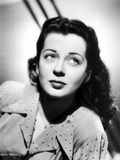 Gail Russell Posed in Dress with White Background