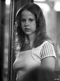 Linda Blair standing in White Dress Classic Portrait