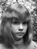 Linda Blair Classic Close Up Portrait in Black and White