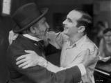 Al Jolson hugging a Man in Black and White Portrait