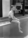 James Cagney sitting in Swimming Outfit Classic Portrait