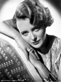 Mary Astor on Shining Top Leaning on Two Hands Portrait
