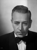 George Raft wearing Tuxedo with Tie Black and White