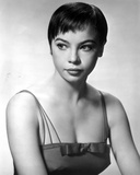 Leslie Caron Portrait with White Background in Class