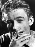Peter O'Toole Posed in Black and White With Cigarette