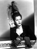 Maria Montez Looking Away in Black Dress with Headdress