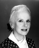Jessica Tandy Portrait in Black Suit Dress and White scarf