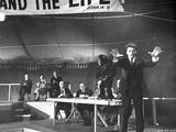 Elmer Gantry Group Posed Scene in Black and White