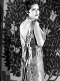 Fay Wray Posed in Dress with Plants as Background