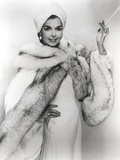 Ann Miller wearing a Fur Coat in Classic Portrait