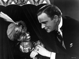 Edgar Bergen Staring Doll's Face With Black Suit