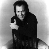 Michael Keaton in Black With Black and White Background