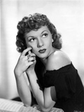 Mary Martin on Off Shoulder Top and Looking Up Portrait