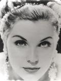 Debra Paget Close Up Portrait wearing Dangling Earrings